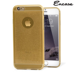 Encase FlexiShield Glitter iPhone 6 Gel Case - Gold