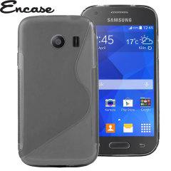 Encase FlexiShield Samsung Galaxy Ace Style Case - Smoke Black