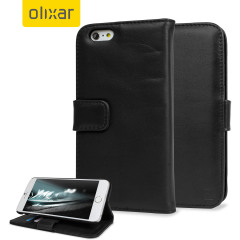 Encase Genuine Leather iPhone 6 Plus Wallet Case - Black