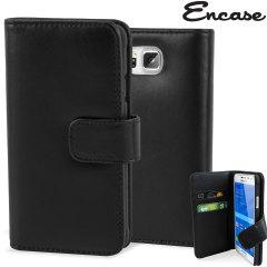 Encase Genuine Leather Samsung Galaxy Alpha Wallet Case - Black