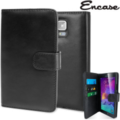 Encase Genuine Leather Samsung Galaxy Note 4 Case - Black