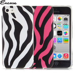 Encase iPhone 5C Zebra Stripes Hard Case - White
