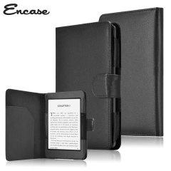 Encase Leather-Style Amazon Kindle Voyage Folio Case - Black