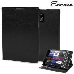 Encase Leather-Style BlackBerry Passport Wallet Case - Black