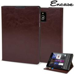 Encase Leather-Style BlackBerry Passport Wallet Case - Brown