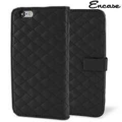 Encase Leather-Style Diamond Quilted iPhone 6 Wallet Case - Black