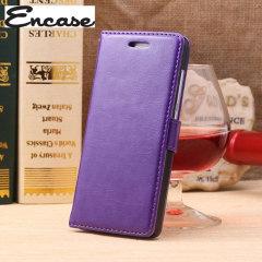 Encase Leather Style EE Kestrel Wallet Case - Purple