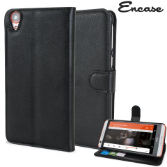Encase Leather-Style HTC Desire 820 Wallet Case - Black