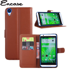 Encase Leather-Style HTC Desire 820 Wallet Case - Brown