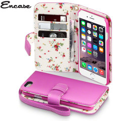 Encase Leather-Style iPhone 6 Wallet Case - Floral Pink