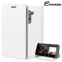 Encase Leather-Style LG G3 Wallet Case - White