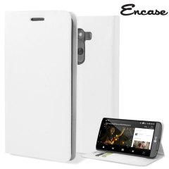 Encase Leather-Style LG G3 Wallet Case - White