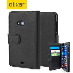 Encase Leather-Style Microsoft Lumia 535 Wallet Case - Black