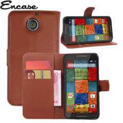 Encase Leather-Style Motorola Moto X 2nd Gen Wallet Case - Brown