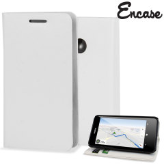 Encase Leather-Style Nokia Lumia 630 Wallet Case With Stand - White