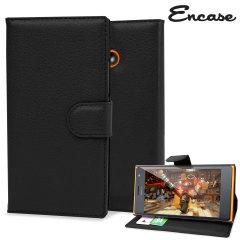 Encase Leather-Style Nokia Lumia 735 Wallet Case - Black