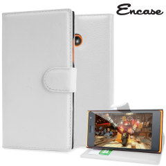 Encase Leather-Style Nokia Lumia 735 Wallet Case - White