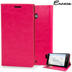 Encase Leather-Style Nokia Lumia 930 Wallet Stand Case - Hot Pink