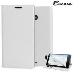 Encase Leather-Style Nokia Lumia 930 Wallet Stand Case - White