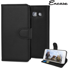 Encase Leather-Style Samsung Galaxy A3 Wallet Case - Black