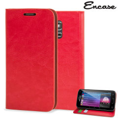 Encase Leather-Style Samsung Galaxy S5 Mini Wallet Case - Red