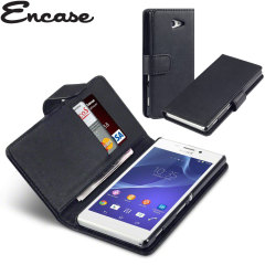 Encase Leather-Style Sony Xperia M2 Wallet Case - Black