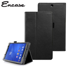 Encase Leather-Style Sony Z3 Tablet Compact Wallet Stand Case - Black