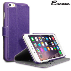 Encase Low Profile iPhone 6 Plus Wallet Stand Case - Purple