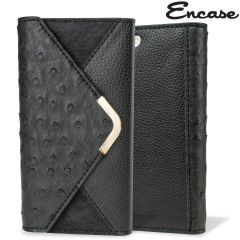 Encase Ostrich and Pony Skin Effect iPhone 6 Wallet Case - Black