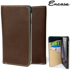 Encase Real Leather iPhone 6 Wallet Case - Brown