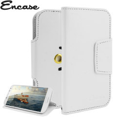Encase Rotating 5 Inch Leather-Style Universal Phone Case - White