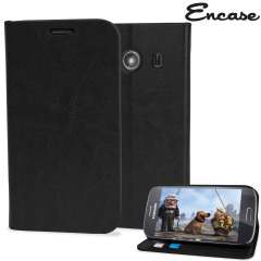 Encase Slim Leather-Style Samsung Galaxy Ace 4 Wallet Case - Black