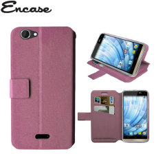 Encase Stand and Type Wiko Getaway Wallet Case - Pink