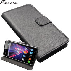 Encase Stand and Type Wiko Wax Folio Case - Black