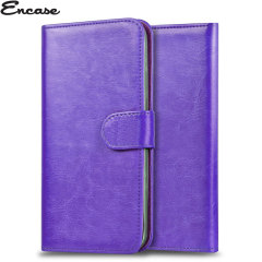 Encase Stand and Type Wiko Wax Folio Case - Purple