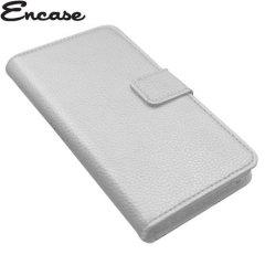 Encase Stand and Type Wiko Wax Folio Case - White