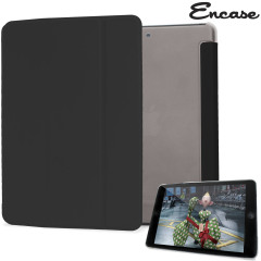 Encase Transparent iPad Mini 3 / 2 / 1 Folding Stand Case - Black