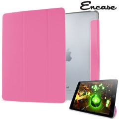 Encase Transparent Shell iPad Air 2 Folding Stand Case - Pink