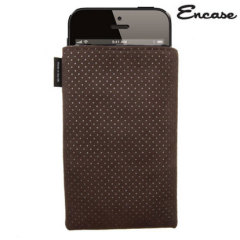 Encase Ultrasuede Pouch For iPhone 5S / 5 - Chocolate