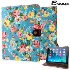 Encase Vintage Flower iPad Air 2 Case - Light Blue