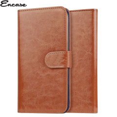 Encase Wiko Kite 4G Wallet Case - Brown