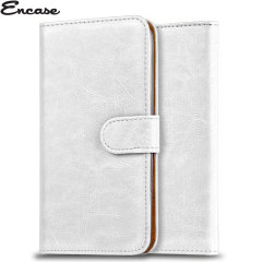Encase Wiko Kite 4G Wallet Case - White