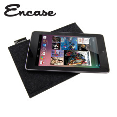 Encase Wool Felt Pouch for Google Nexus 7 - Charcoal