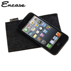 Encase Wool Felt Pouch for iPhone 5S / 5 - Charcoal