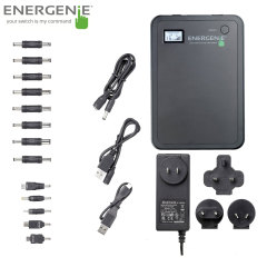 Energenie Universal Laptop Battery Charger Power Bank - 10,000mAh