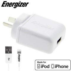 Energizer 1A Lightning iPhone and iPod Australian USB Wall Charger