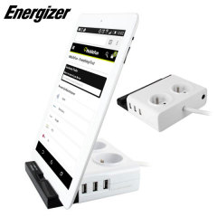 Energizer 3 USB Port Tab Station with Dual French Power Outlets
