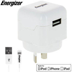 Energizer High Power 2.1A Lightning Device Australian USB Wall Charger