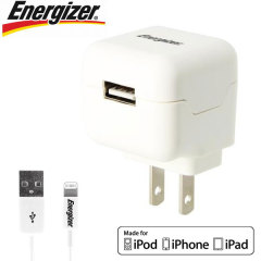 Energizer High Power 2.1A Lightning Device US USB Wall Charger