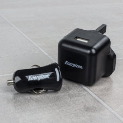 Energizer High Power 2.1A Micro USB 3-in-1 Mains & Car Charger - Black